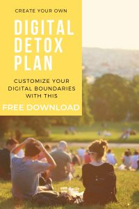 Free downloadable Digital Detox Plan